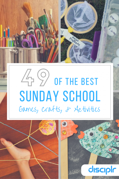 Sunday School games crafts and activities