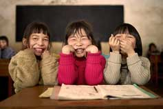 Smiling school children